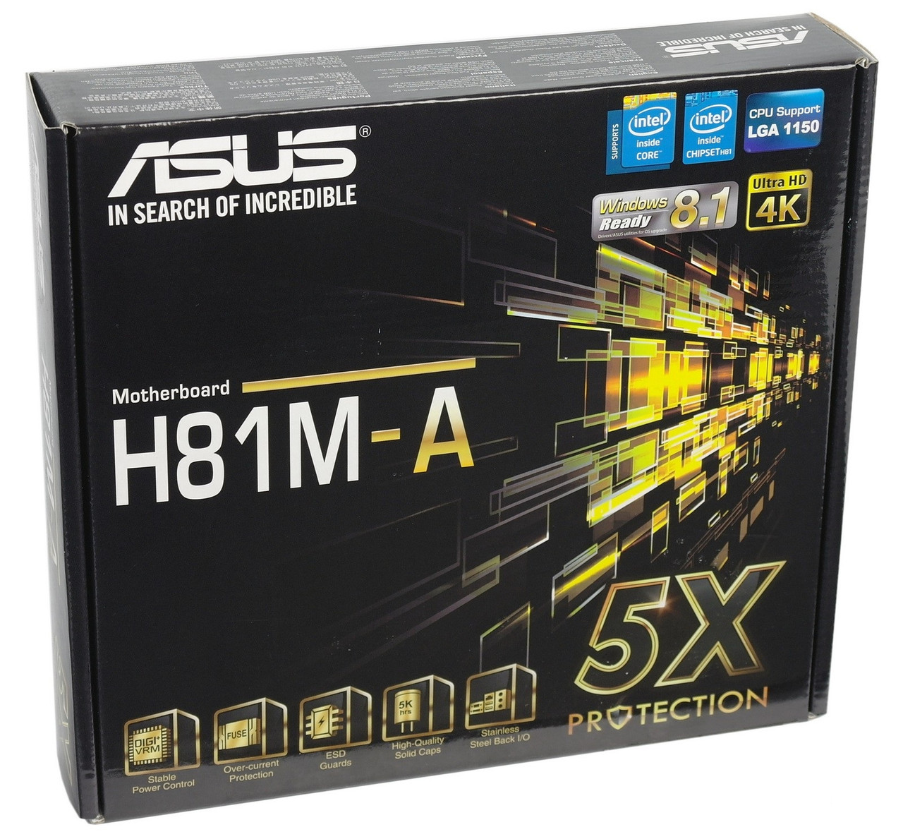 "Материнская плата ASUS H81M-A s.1150 DDR3 ""Over-Stock"" Б\У"