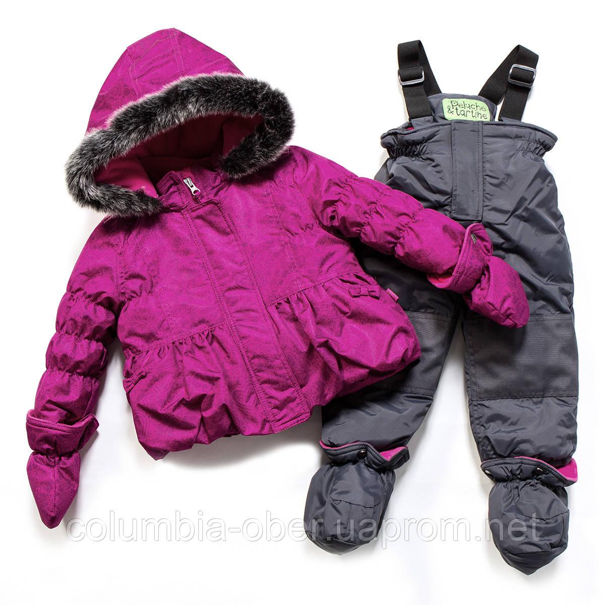Зимний костюм для девочки PELUCHE F17 M 16 BF Magenta / Smokey Grey. Размер 24 мес.
