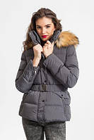 Зимняя женская куртка Glo-Story короткая серая