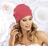 Женская шапка-бандана со стразами SAMBA электрик