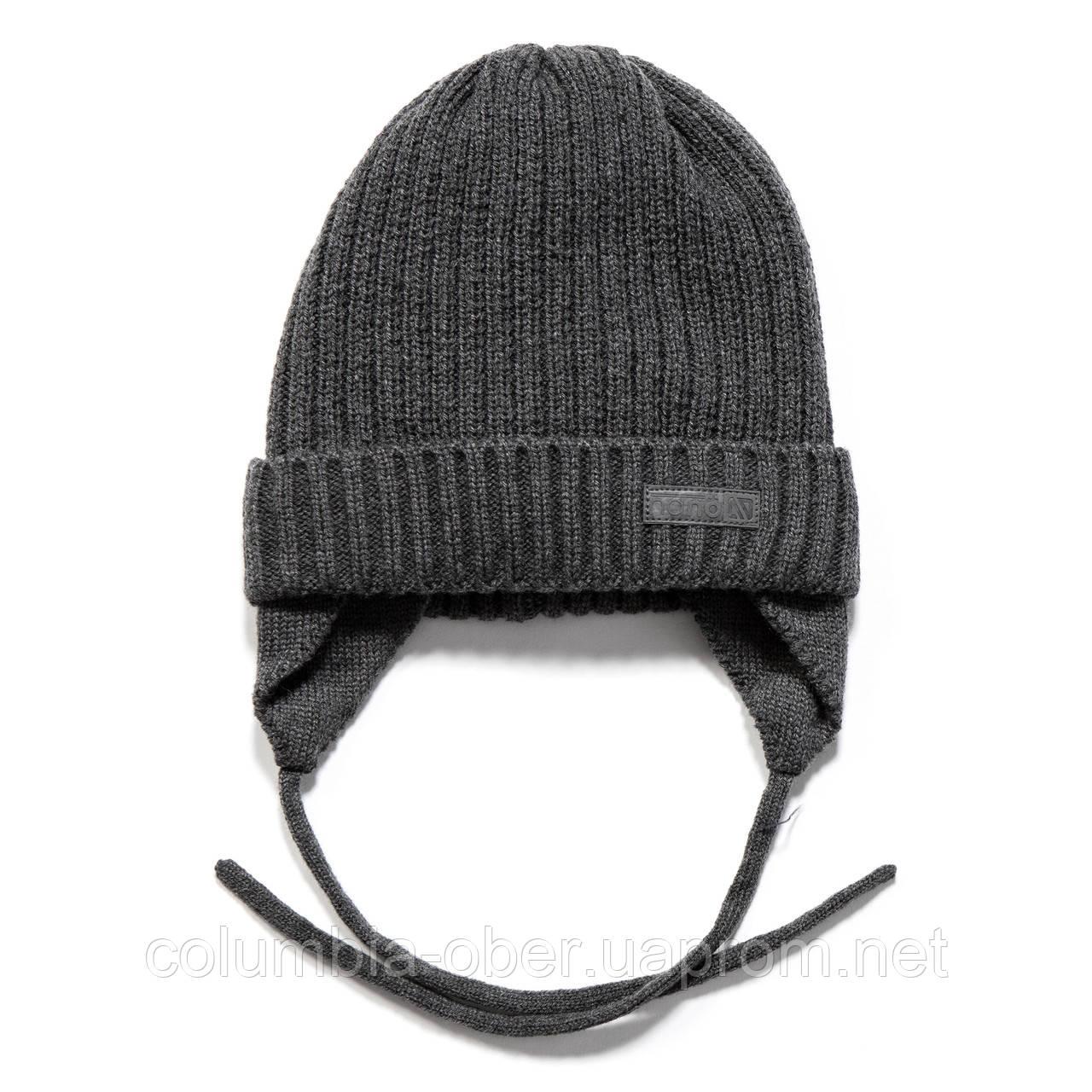 Зимняя шапка для мальчика Nano F17 TU 259Greyness Mix. Размеры 2/3х -  7/12.