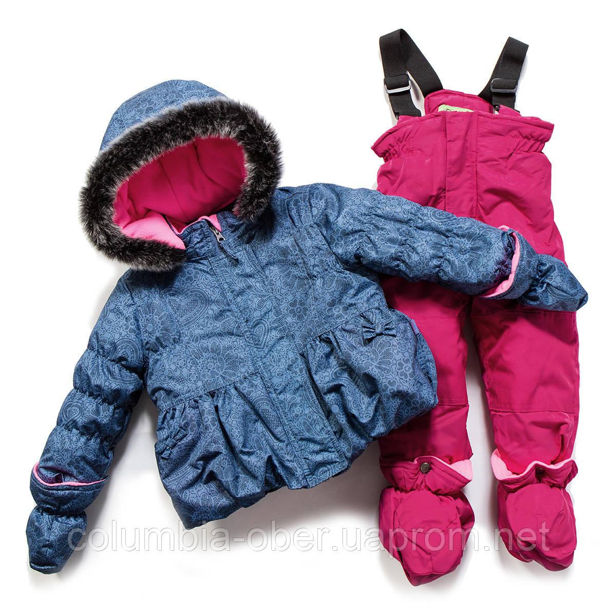 Зимний костюм для девочки PELUCHE F17 M 16 BF China Blue / Berry. Размеры 75 - 97.