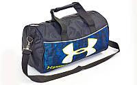 Сумка для спортзала Бочонок UNDER ARMOUR GA-6278-3 (полиэстер,р-р 43х22х24см, камуфляж т.синий)