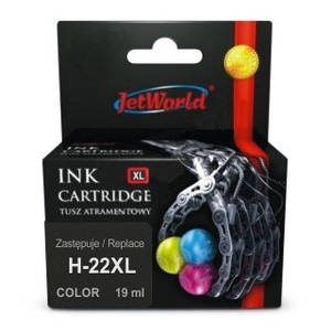 Картридж HP 22 XL Tri-Color (C9352CE)  (увеличенный ресурс) от JetWorld для HP Deskjet, Officejet