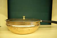 Сковородка с крышкой-медь