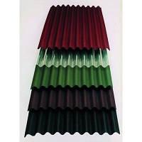 Металлошифер волновой зеленый 0.4 мм 1.13х2 м