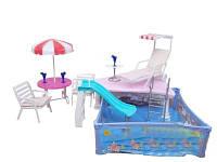 Мебель для кукол Gloria Отдых у бассейна