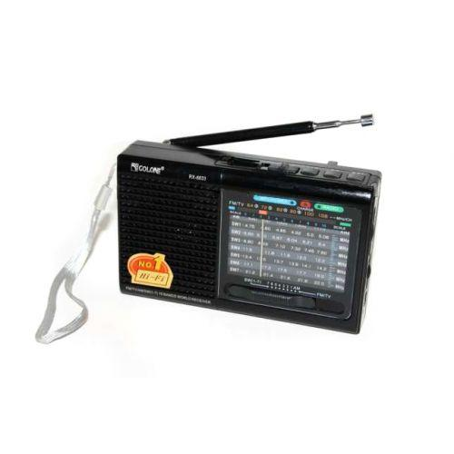 Портативна колонка радіо MP3 USB Golon RX 6633 Black
