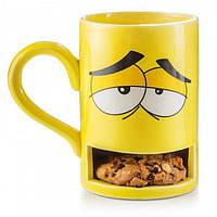Чашка с отделением для печенья Monster Cookie Cup Donkey (желтая)