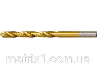Сверло по металлу, 2 мм, HSS, нитридтитановое покрытие, цилиндрический хвостовик// MTX