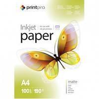 Бумага PrintPro матовая 190г/м, A4 PM190-100