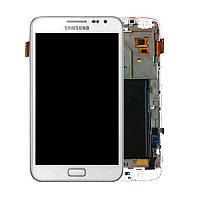 Дисплей Samsung Galaxy Note N7000 / I9220 Original complete with frame White