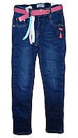 Джинсовые брюки на фисе  для девочек оптом, Seagull  116-146 рр. арт. CSQ-89903