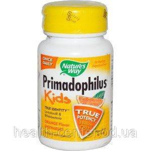 Primadophilus Kids 30 тaб 3 млрд. Примадофилус для детей от 2 до 12 лет  Nature's Way
