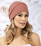 Моодная женская шапка-бандана в 2х цветах HALKA голубая, ягода