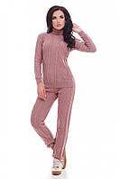 Вязаный женский костюм RUBY пудра ТМ FashionUp 42-46 размеры