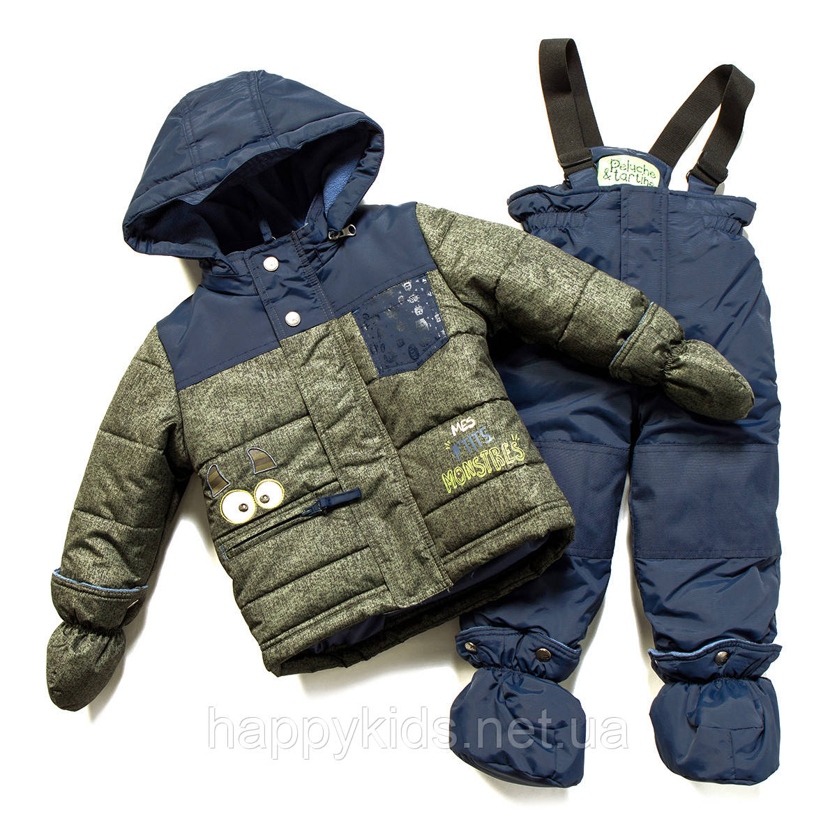 Зимний костюм для мальчика PELUCHE F17 M 03 BG Dk Heaven. Размеры 75-97.