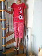 Женские пижамы с капри. Турция. Трикотаж. Домашний комплект: футболка+бриджи, размеры разные. Разные цвета.