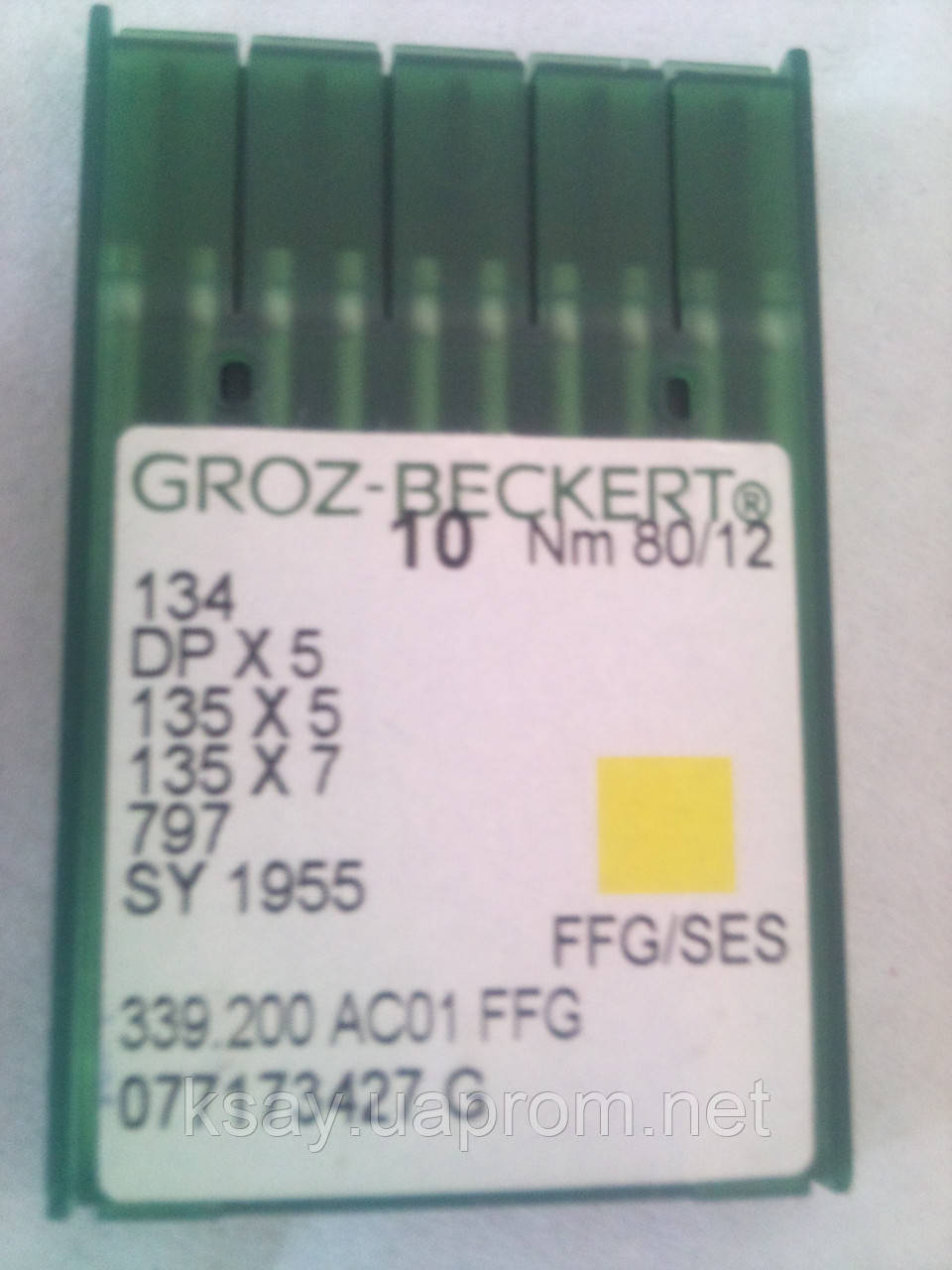 Иглы для промышленных швейных машин DPx5 № 80 FFG/SES  Groz-Beckert (Германия)