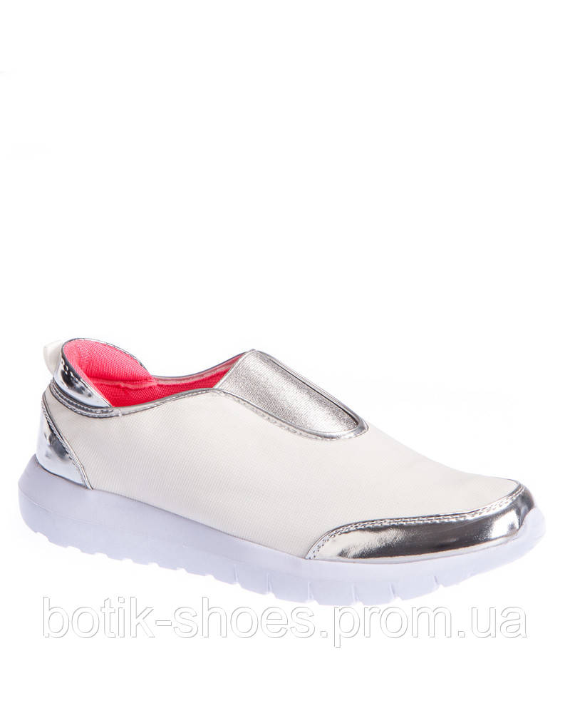 Модные легкие польские женские белые кроссовки, слипоны без шнурков Vices -  интернет-магазин обуви aa15db3872e