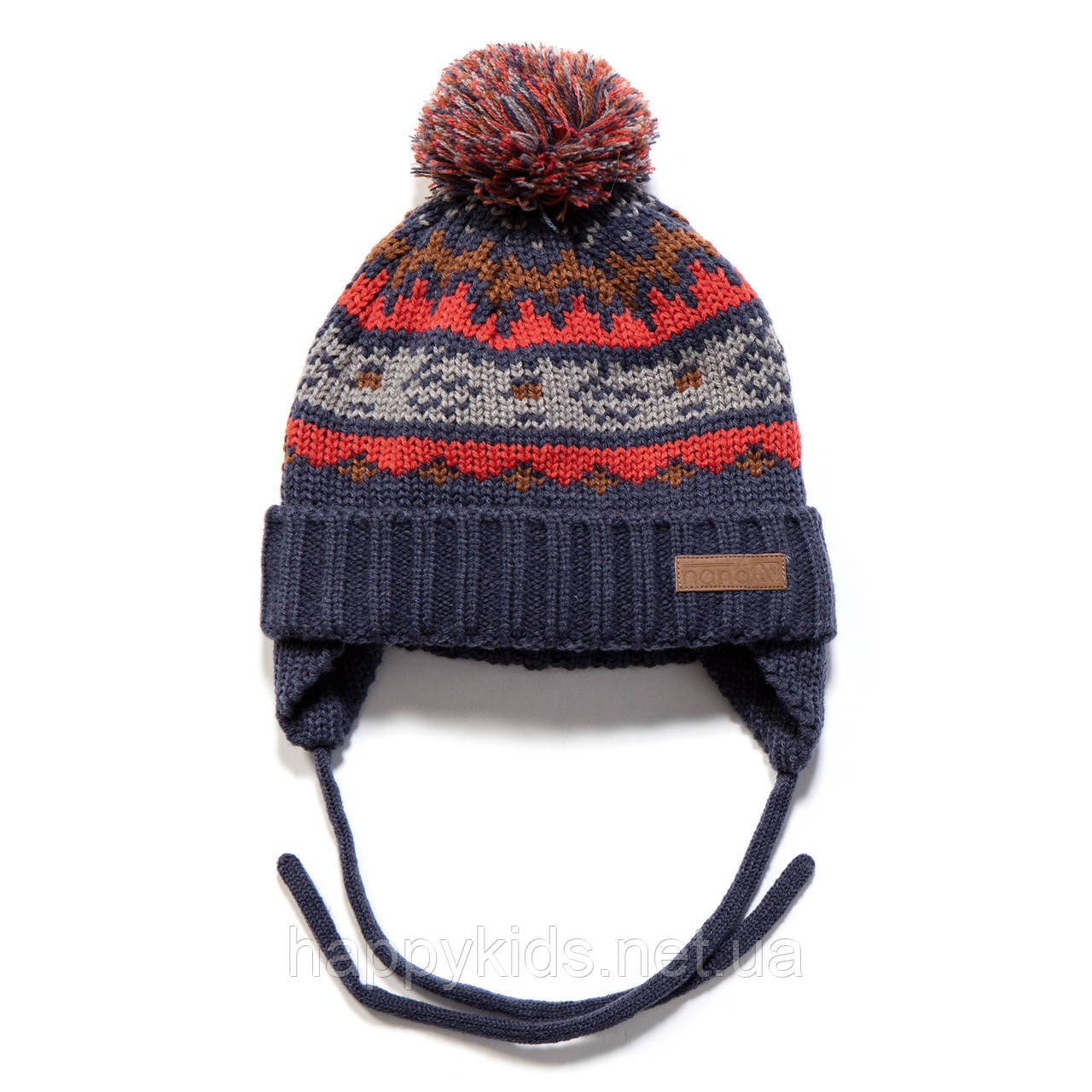 Зимняя шапка для мальчика Nano F17 TU 267Crown Blue . Размеры 9/12 мес -  2/3Х.