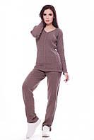 Теплый женский костюм MERY капучино ТМ FashionUp 42-46 размеры