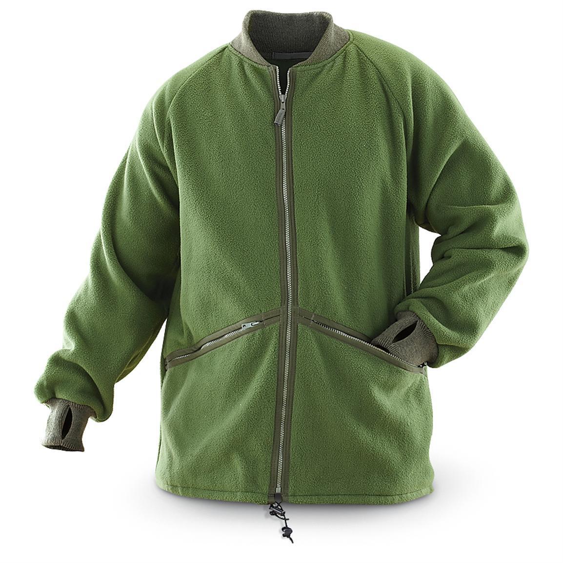 Флисовая куртка-утеплитель оригинал ВС Великобритании 1 сорт - Олива