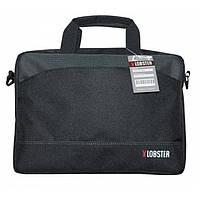 Сумка для ноутбука 12' Lobster LBS12T2BP, Black, полиэстер, 35 х 25 х 2.5 см