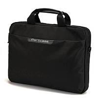 Сумка для ноутбука 15.6' PortCase KCB-160, Black, нейлон, 40 x 28 x 6 см