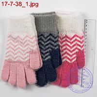 Оптом ангоровые женские перчатки от 15 лет - №17-7-38
