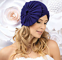 Яркая женская шапка-чалма AJA электрик