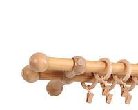 Карниз Mardom деревянный Прато Нью двойной светлый дуб 25/25 мм 240 см (74479)