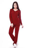 Теплый женский костюм MERY марсала ТМ FashionUp 42-46 размеры