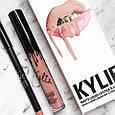 Рідка матова помада і олівець Kylie Matte Liquid Lipstick & Lip Liner So Cute (репліка), фото 4
