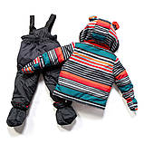 Зимний костюм для мальчика PELUCHE F17 M 09 BG Deep Grey. Размеры 12 - 24 мес., фото 2