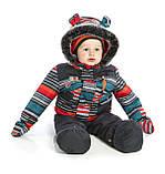 Зимний костюм для мальчика PELUCHE F17 M 09 BG Deep Grey. Размеры 12 - 24 мес., фото 3