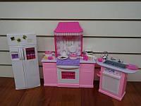 Мебель для кукол Gloria 9986 Кухня с холодильником
