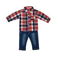 Рубашка клетчатая и джинсы для мальчика