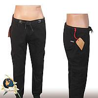 Джинсы мужские чёрные с боковыми карманами низ резинка