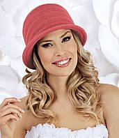 Шикарная женская шляпка с бантом KRIS белая