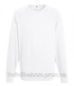 Мужской легкий свитер толстовка реглан Fruit of the loom 62-138-0 30 Белый, S