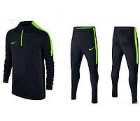Тренировочный костюм Nike Strike 2017 black/light green