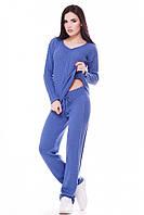 Теплый женский темно-голубой костюм MERY  ТМ FashionUp 42-46 размеры