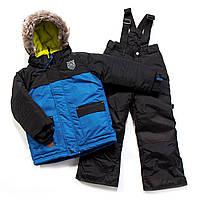 Зимний костюм для мальчика PELUCHE F17 M 51 EG Blue / Black. Размеры 104-128., фото 1