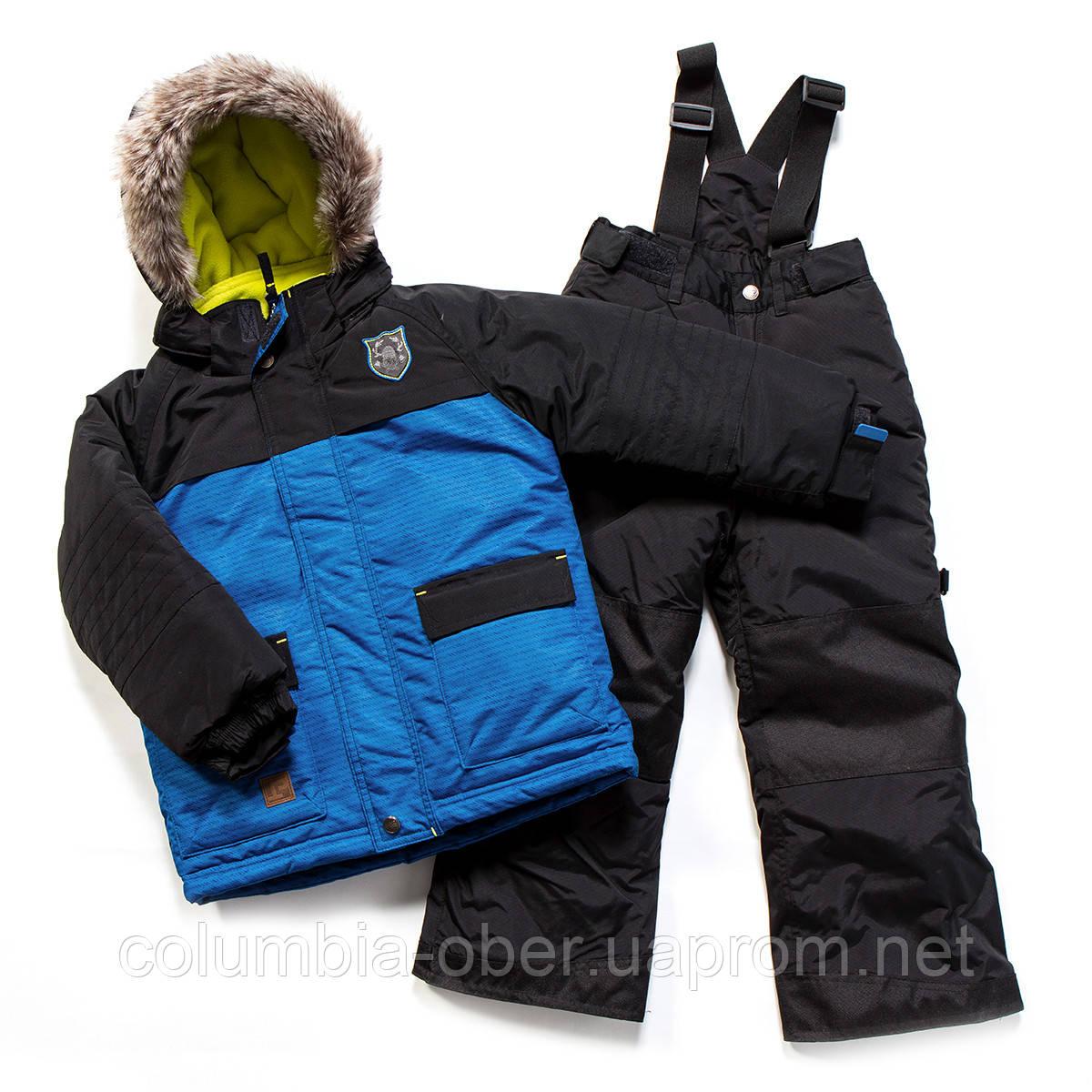Зимний костюм для мальчика PELUCHE F17 M 51 EG Blue / Black. Размеры 104-128.
