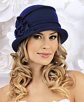 Модная женская шляпка KIRA темно-синяя