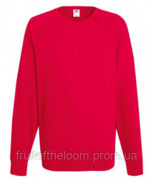 Мужской легкий свитер толстовка реглан Fruit of the loom 62-138-0 40 Красный, S