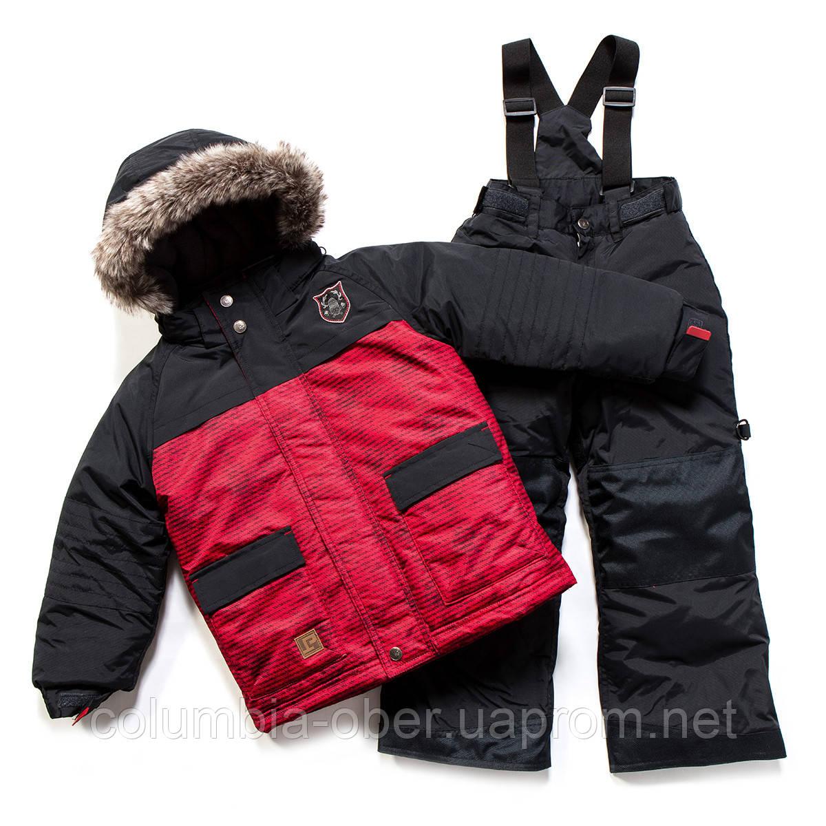 Зимний костюм для мальчика PELUCHE F17 M 51 EG Really Red / Deep Grey. Размеры 104-128.