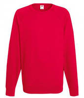 Мужской легкий свитер толстовка реглан Fruit of the loom 62-138-0 40 Красный, L
