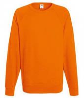Мужской легкий свитер толстовка реглан Fruit of the loom 62-138-0 44 Оранжевый, S